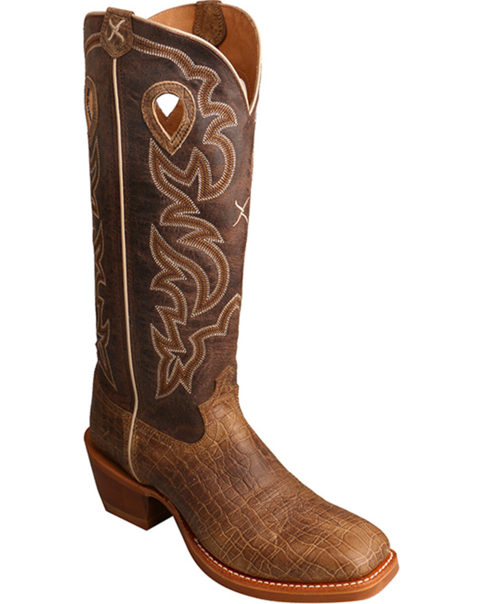 Twisted X Men's Buckaroo Western Boots, Brown, hi-res