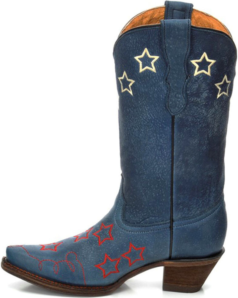 Corral Girls' Stars Embroidery Cowgirl Boots - Snip Toe ...