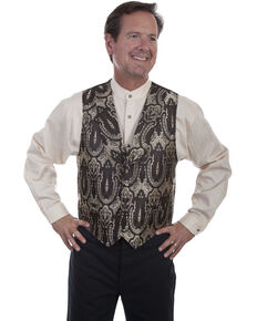 Rangewear by Scully Men's Shawl Collar Vest , Brown, hi-res