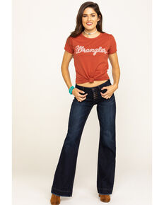 Wrangler Women's Rust Wrangler Logo Graphic Tee, Rust Copper, hi-res