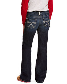 Ariat Girls' R.E.A.L. Franky Bootcut Jeans, Blue, hi-res