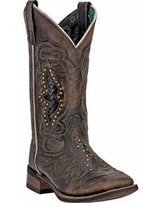 Laredo Women's Spellbound Goat Skin Boots, Black, hi-res