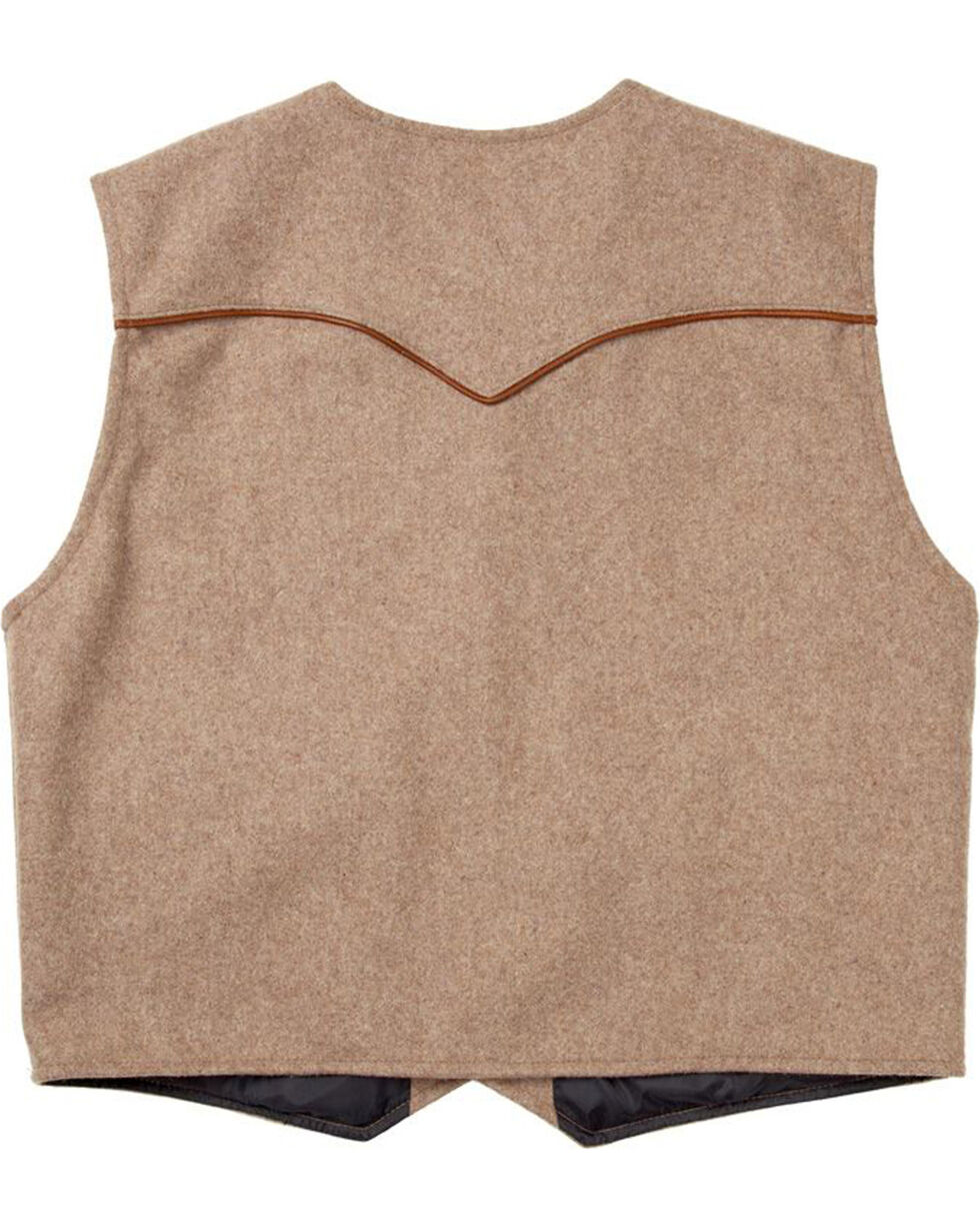 Schaefer Outfitter Men's Taupe Stockman Melton Wool Vest , Taupe, hi-res