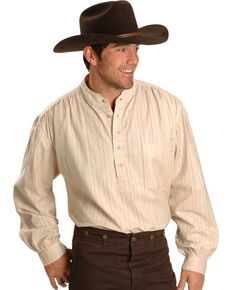 Rangewear by Scully Men's Lightweight Railroader Long Sleeve Western Shirt , Natural, hi-res