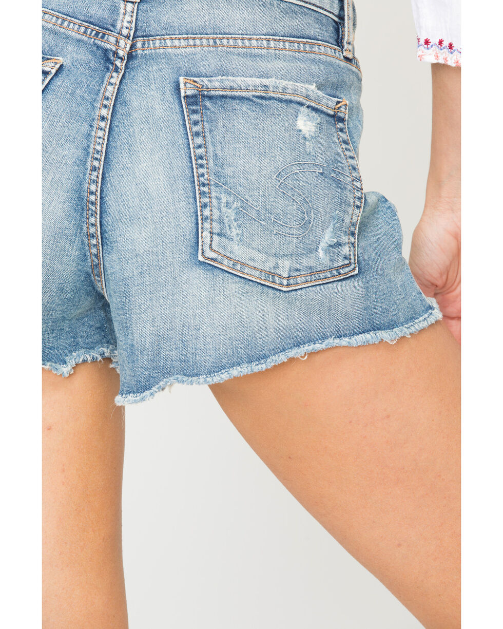 Silver Women's Medium Wash Mom Shorts, Indigo, hi-res
