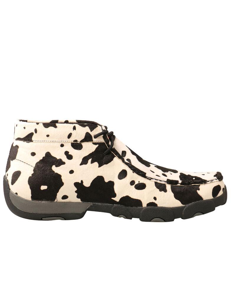 Twisted X Men's Black & White Driving Shoes - Moc Toe, Multi, hi-res