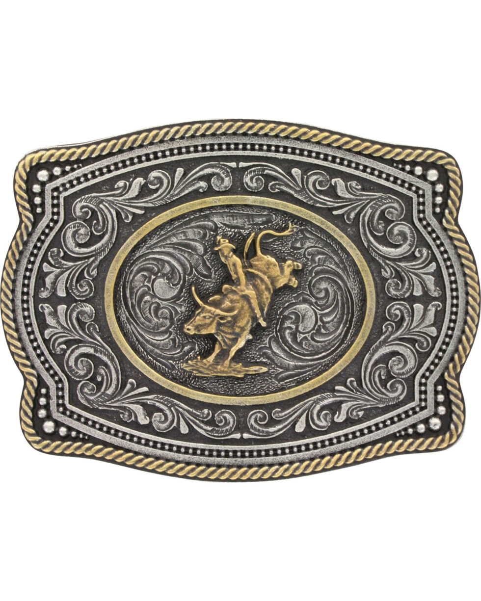 Montana Silversmiths  Bull Rider  Buckle, Silver, hi-res