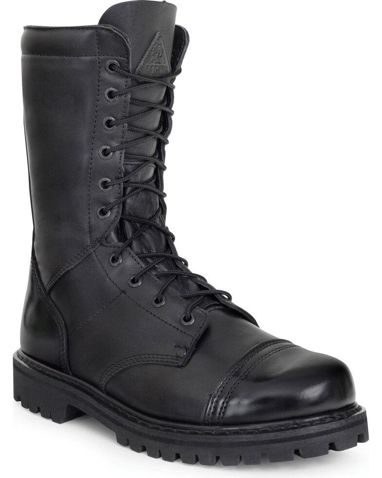 Rocky Waterproof Zipper Jump Boots - Round Toe, Black, hi-res