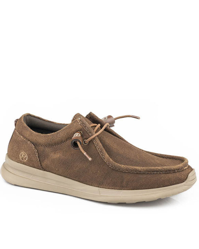 Roper Men's Brown Chillin Chukka Shoes - Moc Toe, Brown, hi-res