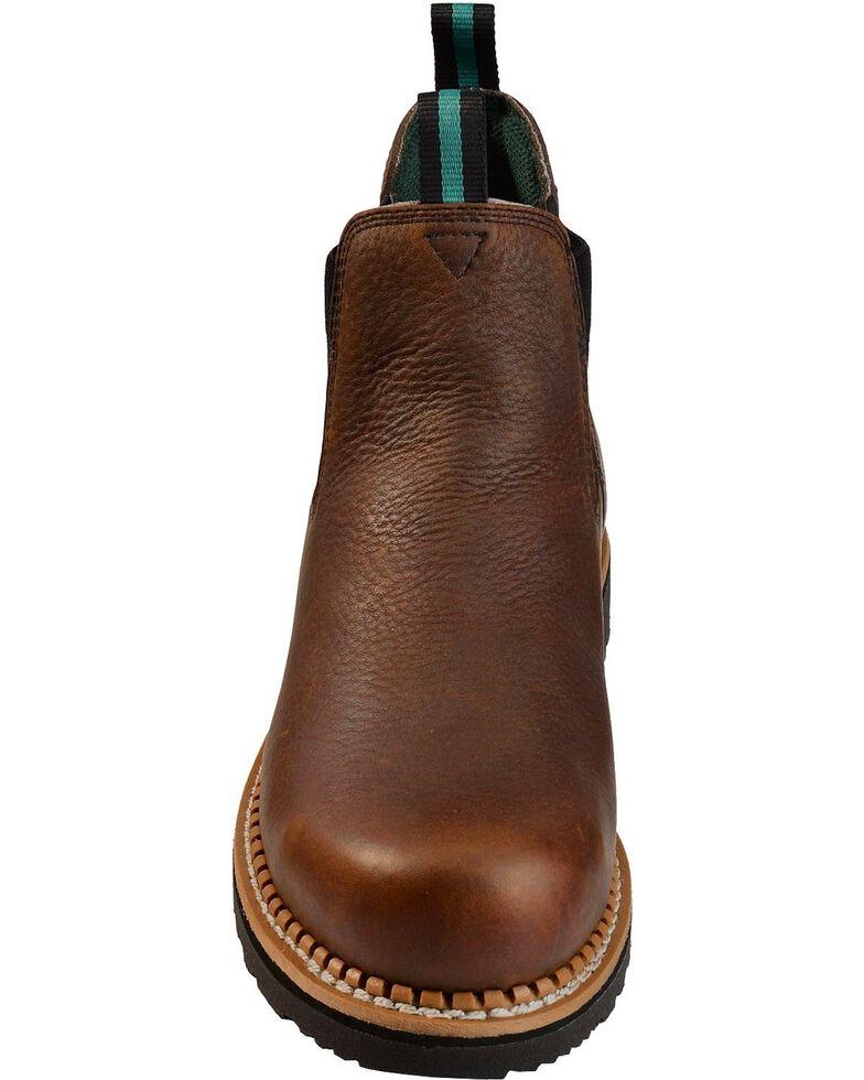 Georgia Men's Waterproof Steel Toe Romeo Casual Work Boots, Brown, hi-res