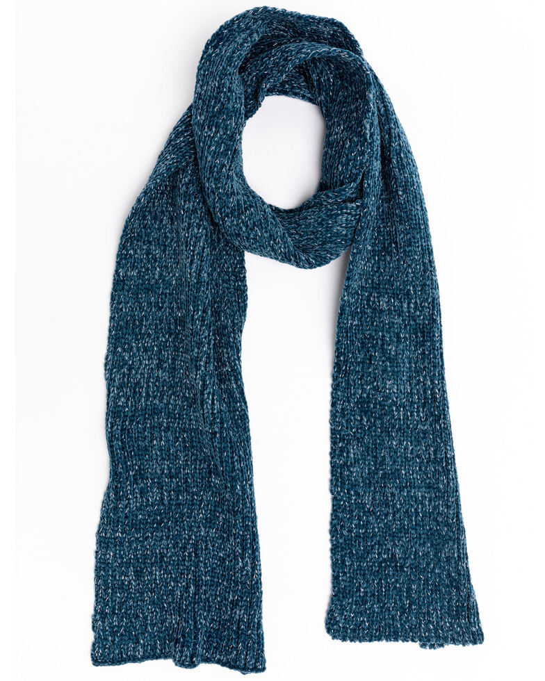 Shyanne Women's Teal Chenille Scarf, Teal, hi-res