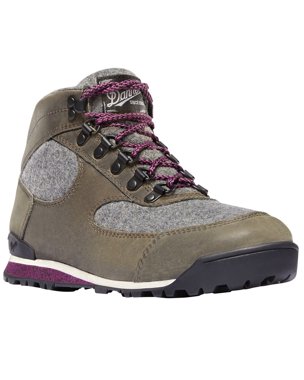 Danner Women's Gray Jag Wool Waterproof Boots - Round Toe , Charcoal, hi-res