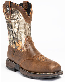 Cody James Men's Xero Gravity Lite Camo Western Work Boots - Nano Composite Toe, Brown, hi-res
