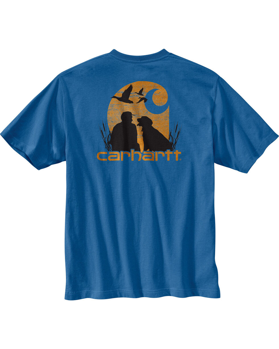Carhartt Men's Blue Workwear Dog Filled C Graphic Tee , Medium Blue, hi-res