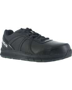 Reebok Women's Athletic Oxford Guide Work Shoes - Steel Toe , Black, hi-res