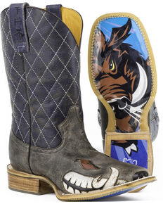 Tin Haul Men's Not Boaring Western Boots, Brown, hi-res