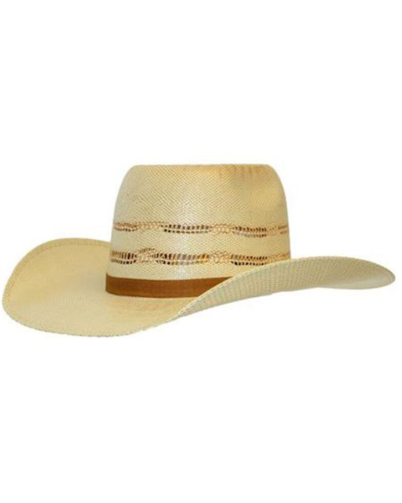 Ariat Youth Light Brown Straw Twister Western Hat , Tan, hi-res