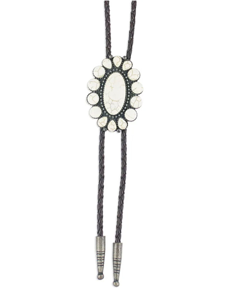 Montana Silversmiths Women's Moonflower Bolo Tie, No Color, hi-res