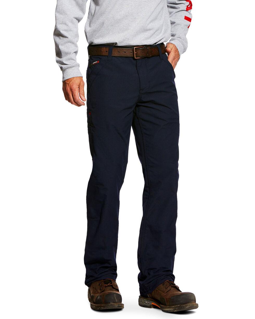 Ariat Men's Rebar M4 Washed Twill Dungaree Work Pants , Black, hi-res