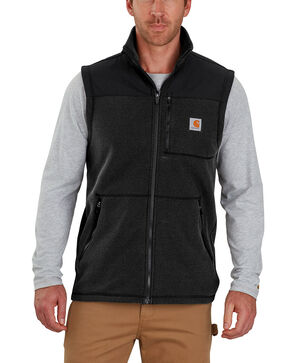 Carhartt Men's Fallon Fleece Vest , Black, hi-res