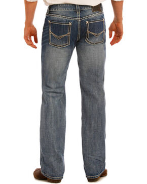 Rock and Roll Cowboy Men's Pistol Straight Leg Jeans, Indigo, hi-res