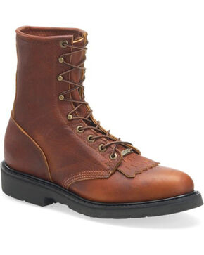 Double-H Men's Lacer Work Boots, Brown, hi-res