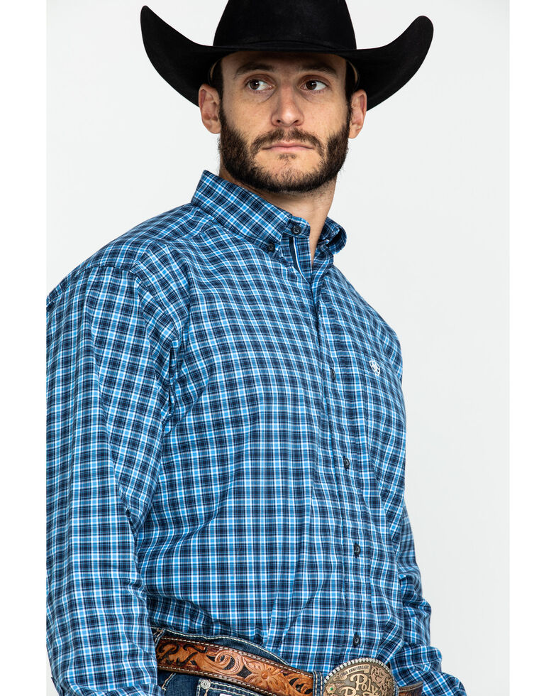Ariat Men's Tompkins Stretch Plaid Long Sleeve Western Shirt , Multi, hi-res