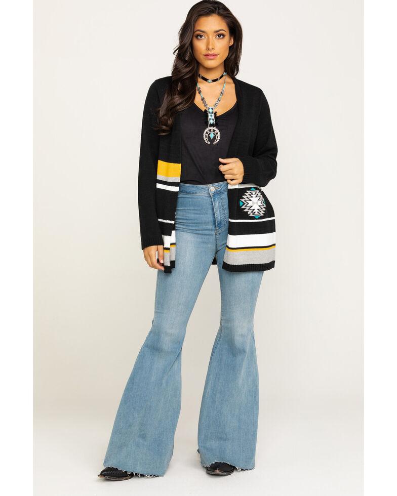 Cotton & Rye Outfitters Women's Aztec Motif Cardigan , Multi, hi-res