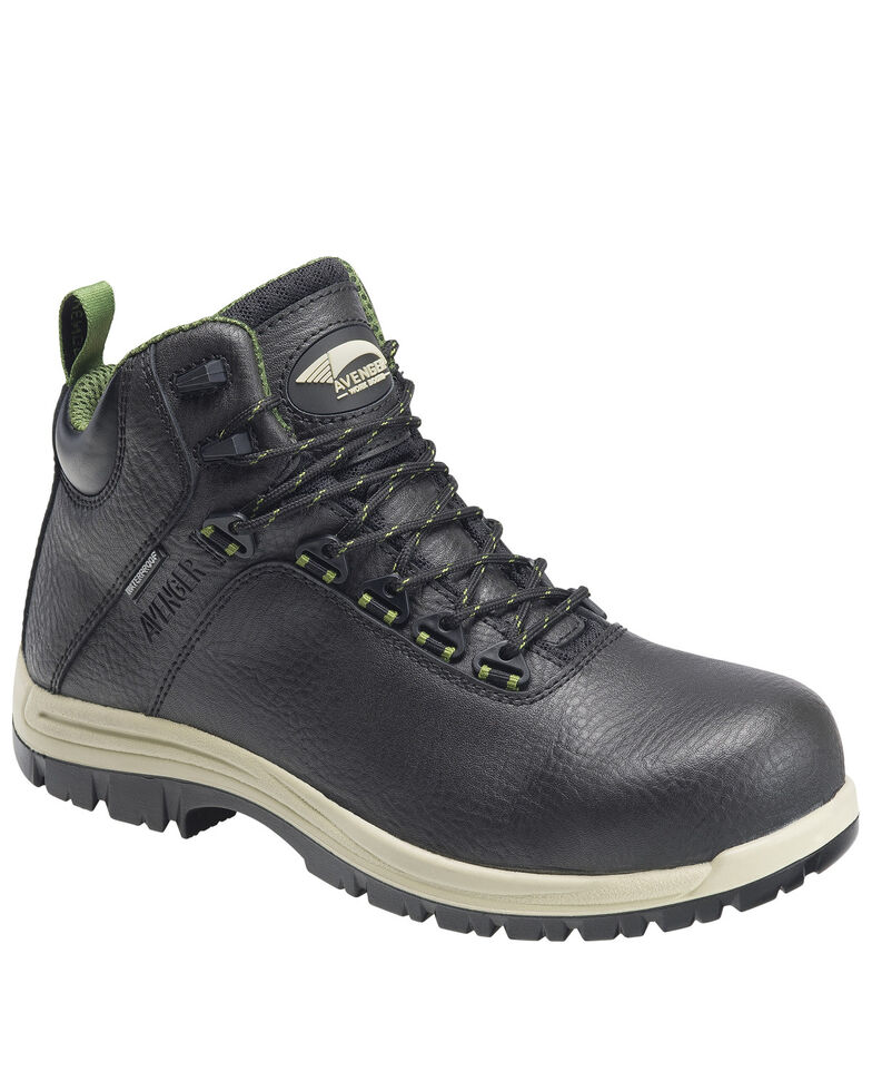 Avenger Men's Breaker Work Boots - Composite Toe, Black, hi-res