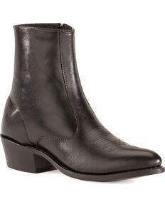 Laredo Zipper Boots - Medium Toe, Black, hi-res