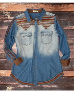 Tasha Polizzi Women's Mia Denim Shirt , Indigo, hi-res