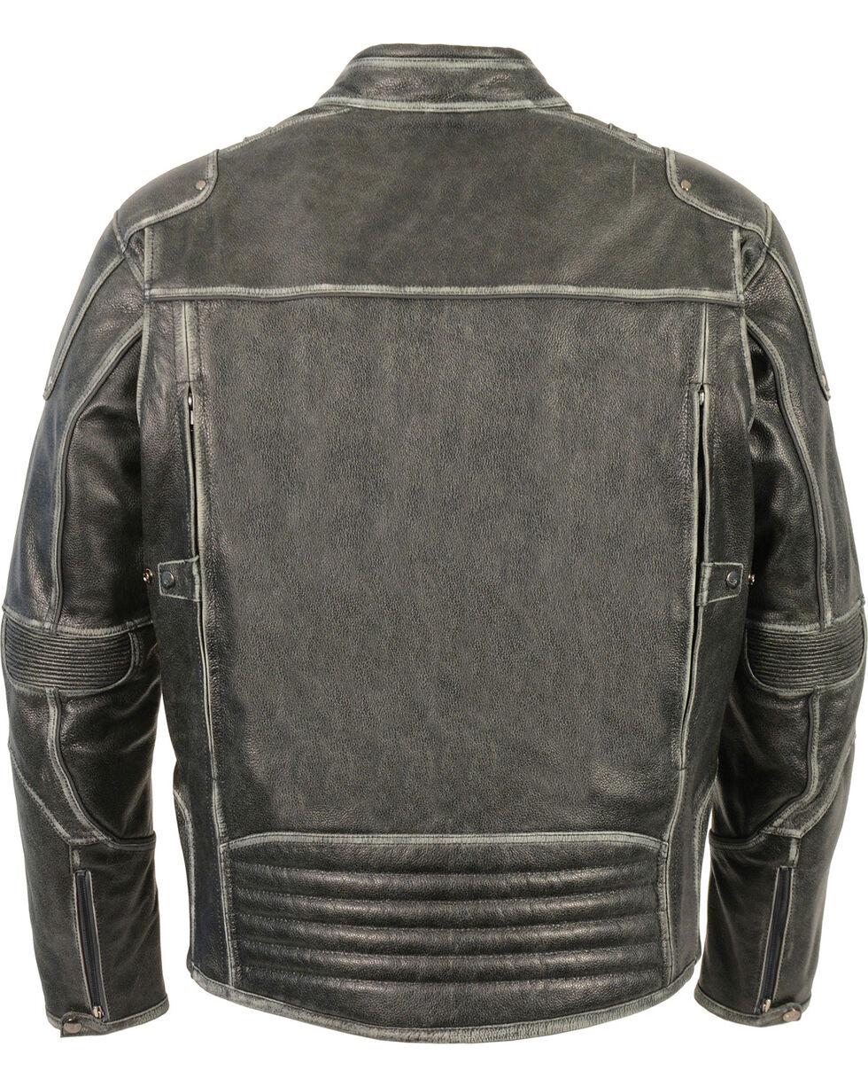 Milwaukee Leather Men's Vintage Distressed Triple Vented Jacket - 4X, Grey, hi-res
