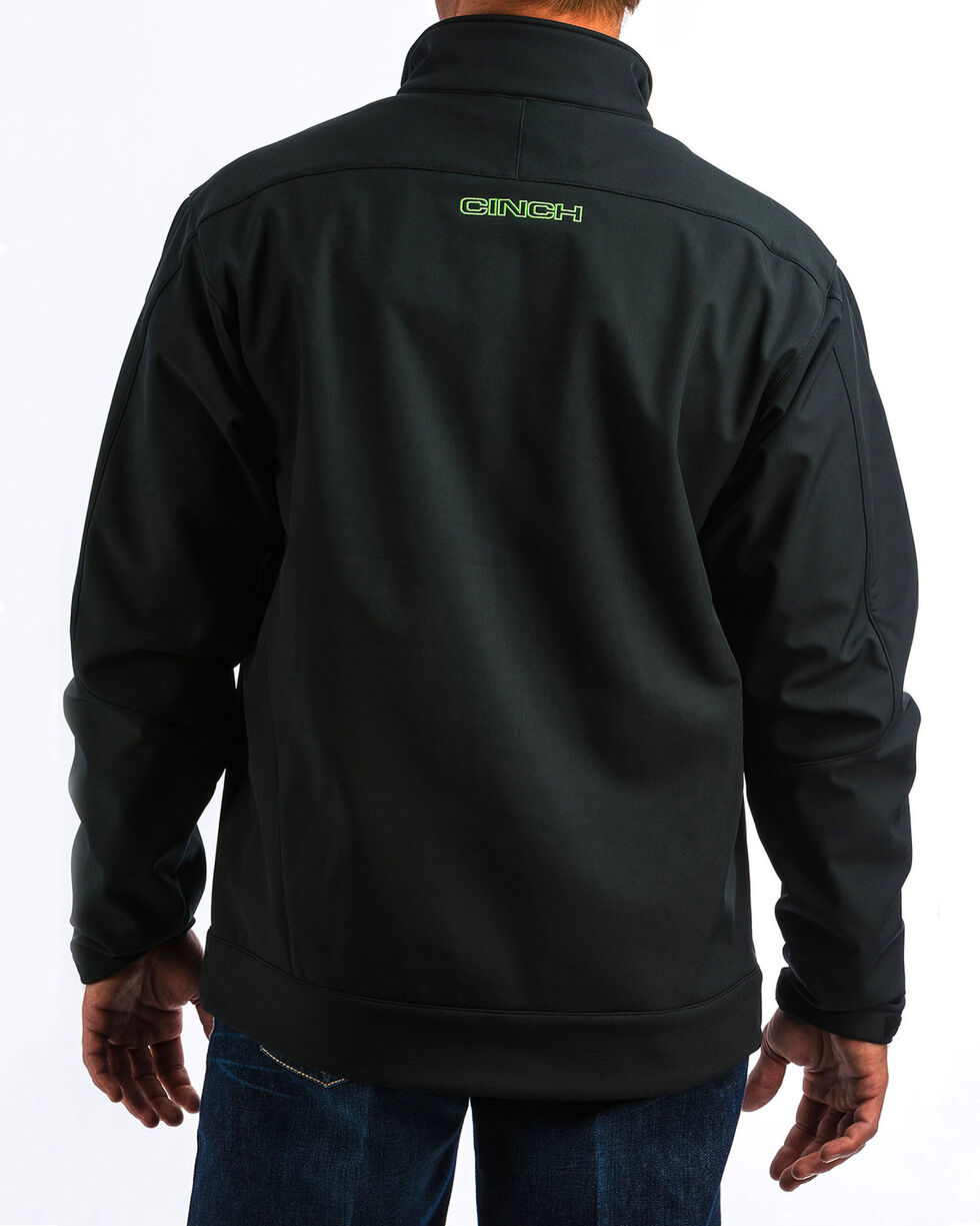 Cinch Men's Black/Green Bonded Jacket - Big, Black, hi-res