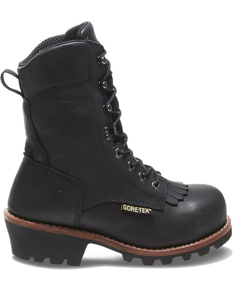 Wolverine Men's Buckeye Safety Toe Logger Boots, Black, hi-res