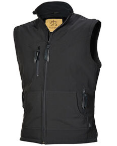STS Ranchwear Boys' Black Youth Barrier Softshell Vest , No Color, hi-res