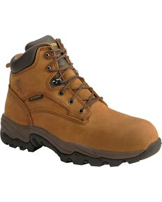"Chippewa Men's IQ 6"" Waterproof Work Boots, Bay Apache, hi-res"