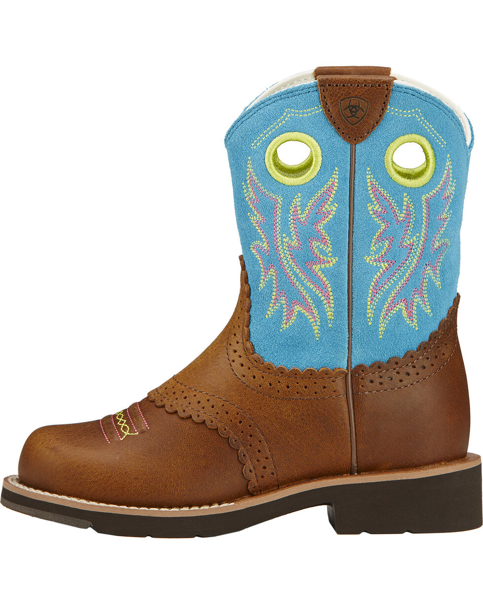 Ariat Girl's Fatbaby Cowgirl Boots, Tan, hi-res