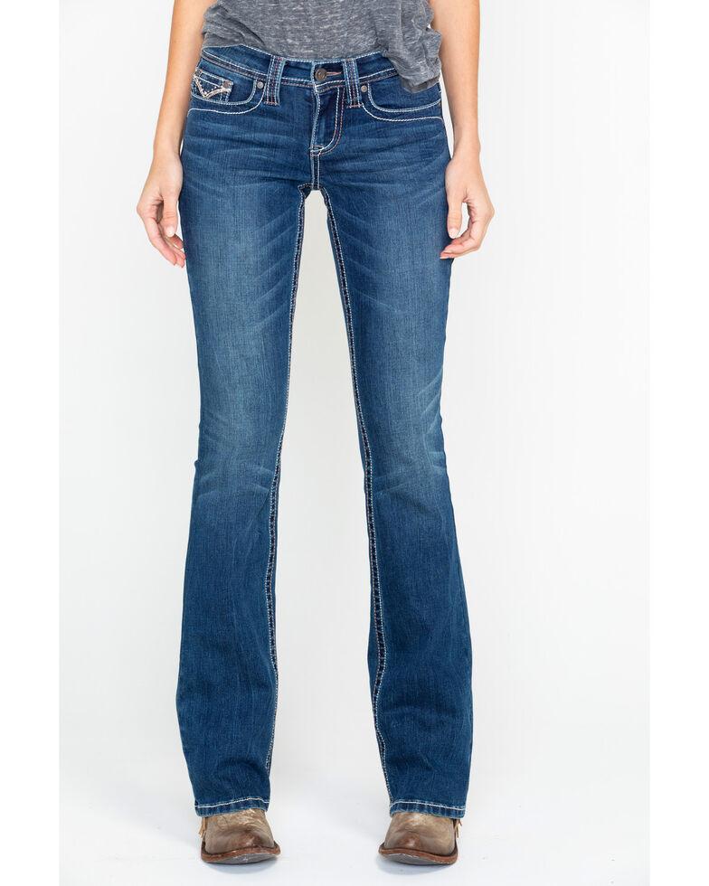 Shyanne Women's Simple Stitch Boot Jeans , Blue, hi-res