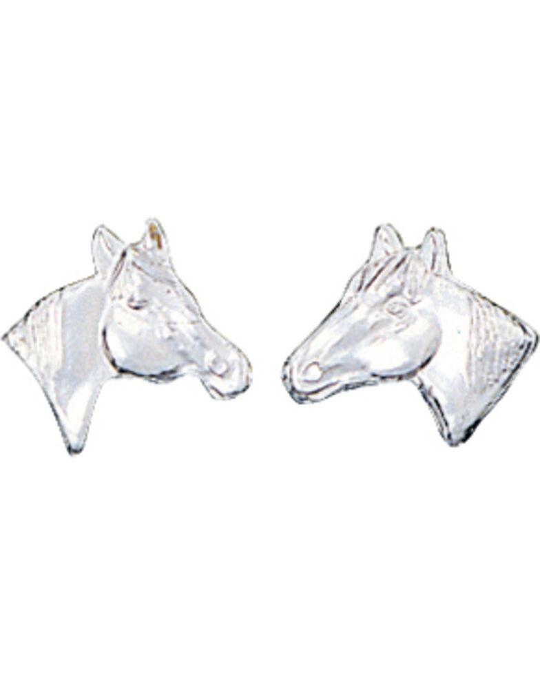 Montana Silversmiths Little Silver Horse Head Earrings Hi Res