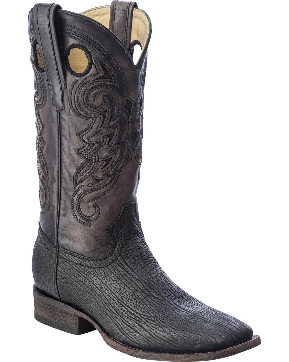 Corral Men's Shark  Exotic Boots, Black, hi-res