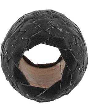 M&F Western Black Rawhide Scarf Slide Ring, Black, hi-res