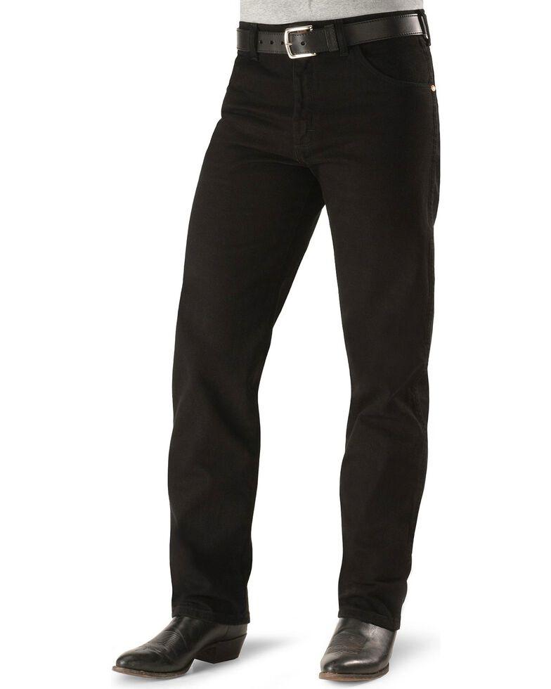 1cea2220 Zoomed Image Wrangler Men's Cowboy Cut Original Fit Jeans, Shadow Black,  hi-res