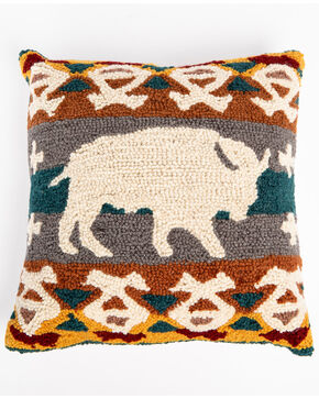 BB Ranch Buffalo Hook Pillow, Multi, hi-res