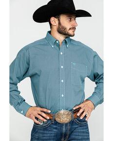 Ariat Men's Wrinkle Free Waldmiller Geo Print Long Sleeve Western Shirt , Turquoise, hi-res