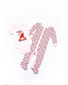 Shyanne Infant Girls' Future Rodeo Queen Plaid Onesie Set , Pink, hi-res