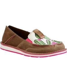 16b1f9211f43 Ariat Women s Cactus Flower Slip On Cruiser Shoes