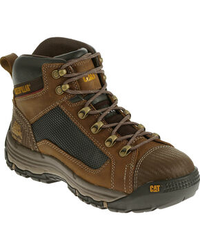 CAT Men's Convex Mid Steel Toe Work Shoes, Light Brown, hi-res
