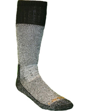 Carhartt Men's All Season Steel Toe Socks, Black, hi-res