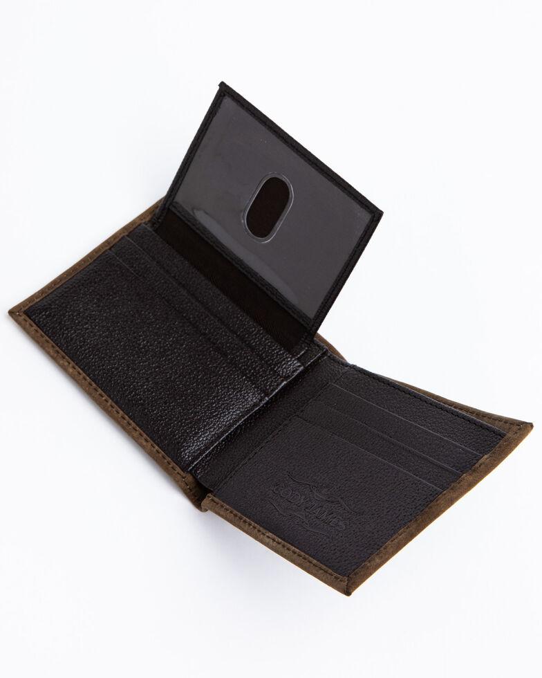 Cody James Men's Brown Horizontal Bi-Fold Leather Wallet , Brown, hi-res