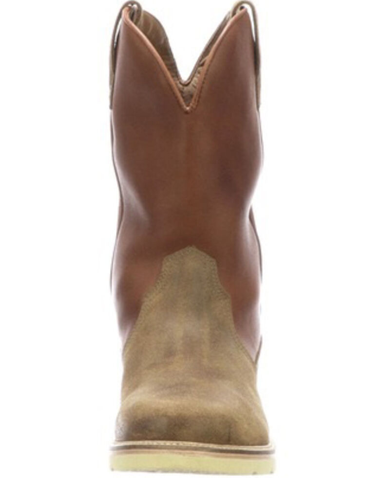 Lucchese Men's Comanche Western Boots - Round Toe, Brown, hi-res